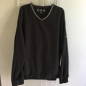 Nike Golf Black V-Neck Pullover Windbreaker Jacket